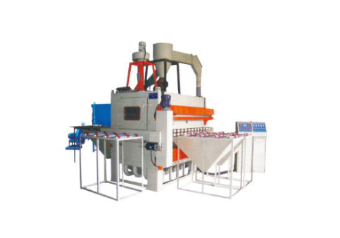 Automatic sand blasting machine for single and double sides of plate